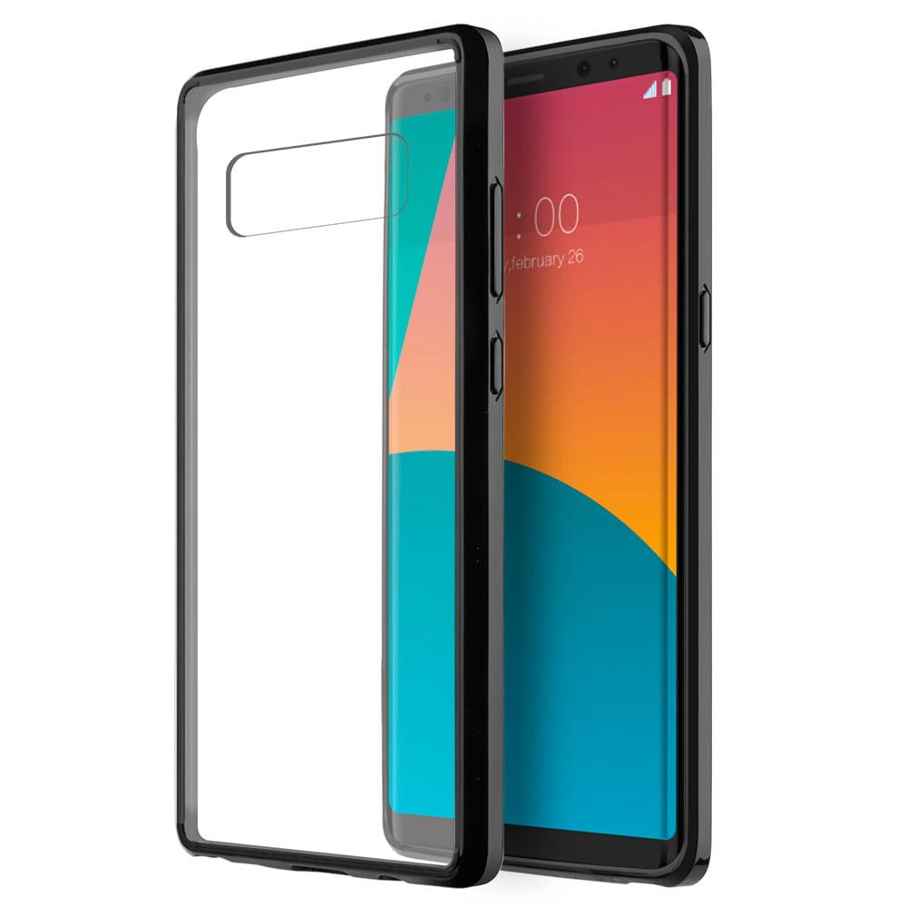 Samsung Galaxy Case,Premium Luxury Soft Slim Flexible TPU Transparent Cover for Samsung Galaxy Note 8 - Black,Raised Bezels, Slim, ShockProof