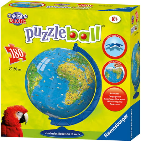 Ravensburger - 3D Puzzle Ball - Childrens Globe - 54 Piece Kids Jigsaw Puzzle