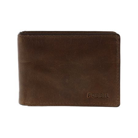 Fossil Bi Fold Wallet (Fossil Men's Derrick Front Pocket Bifold Leather Wallet -)