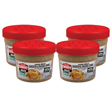 (3 Pack) Campbell's Chunky Maxx Dark Meat Chicken and Sausage Gumbo with Spicy Andouille Sausage Soup, 15.5 oz. - Seafood Gumbo