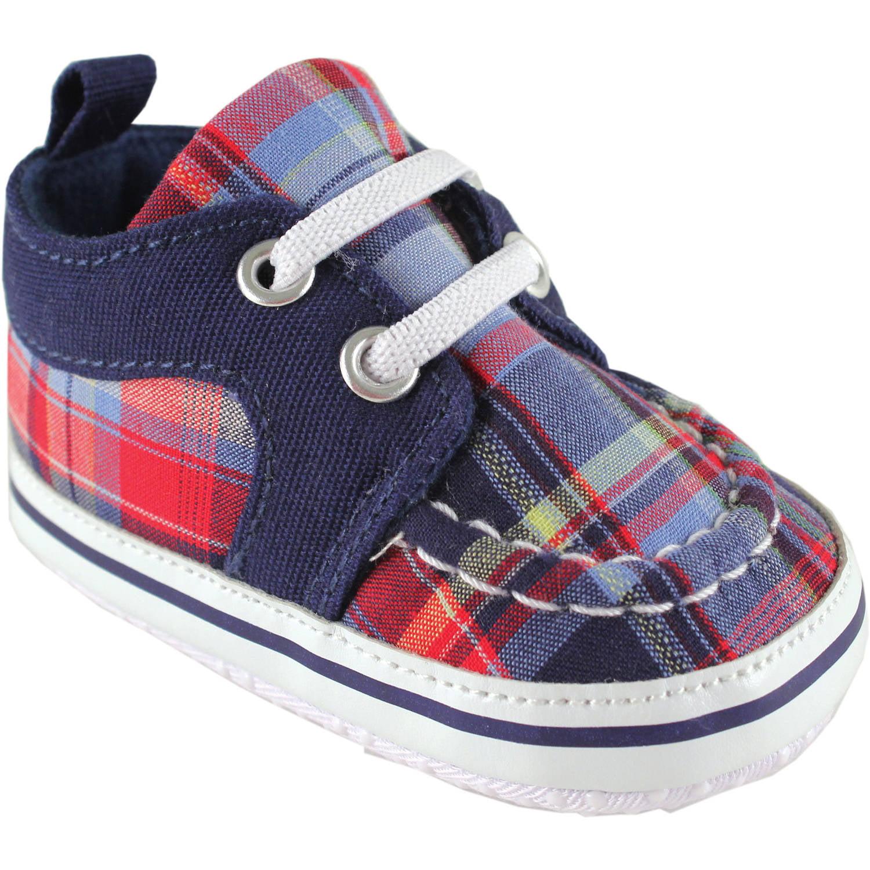 Luvable Friends Newborn Baby Boy Plaid Sneakers