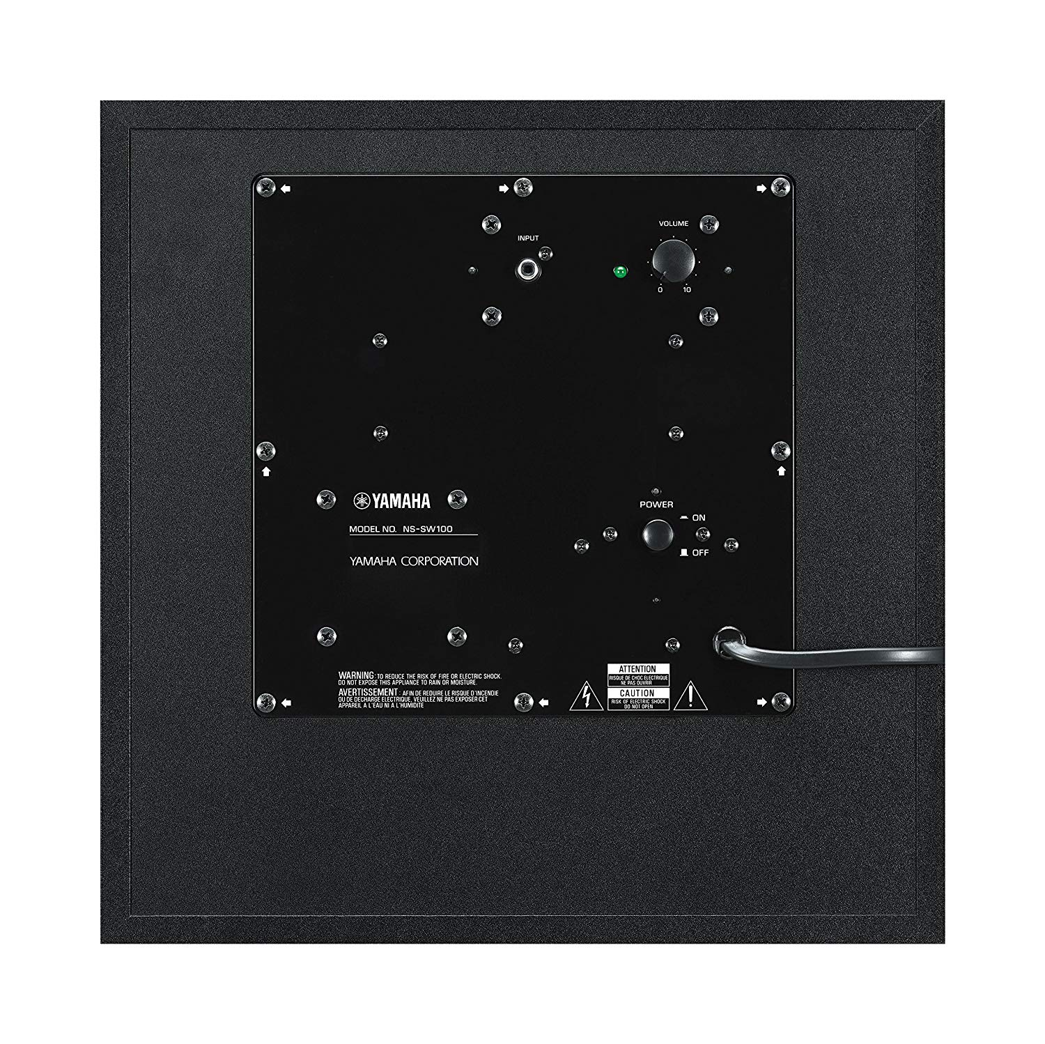 Yamaha 8 100W Powered Subwoofer Black NS-SW050BL