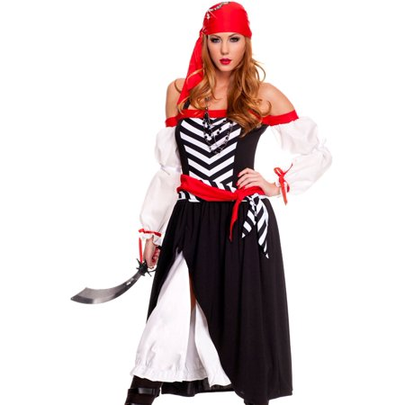 Music Legs Womens Pirate Wench Halloween Costume