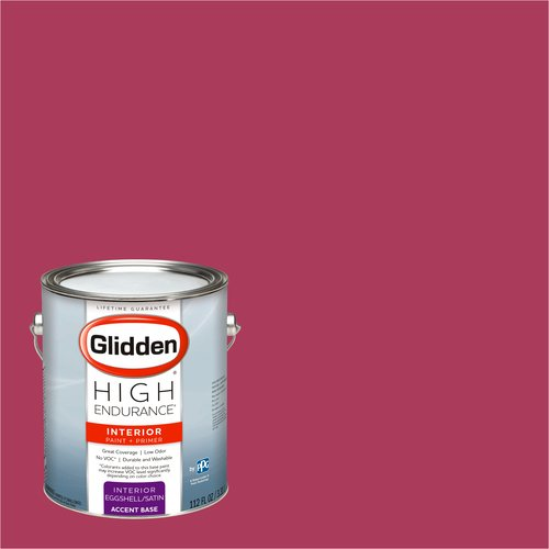 Glidden High Endurance, Interior Paint and Primer, Racy Red, #64RR 12/436