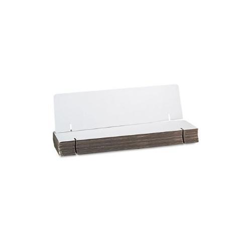 Spotlight Corrugated Presentation Headers Display, 36 x 9 1/2, White, 24/Carton