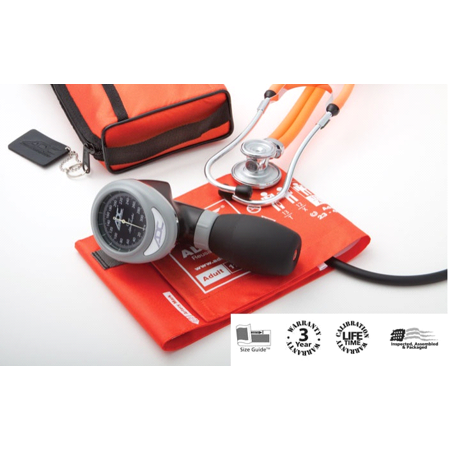 ADC Diagnostix 788-11ABK Pro Combo's III Palm BP Aneroid Sphygmomanometer