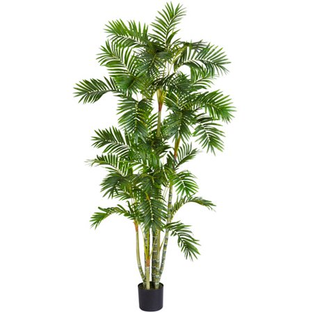 Nearly Natural Areca Palm Silk Tree, 6 ft.