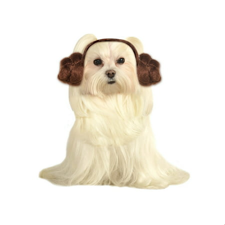 Star Wars Pet Dog Leia Buns Headwear Halloween Costume Accessory](Rock Star Dog Costume)
