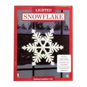 Holiday Time Christmas Decor Light Up Hanging Snowflake