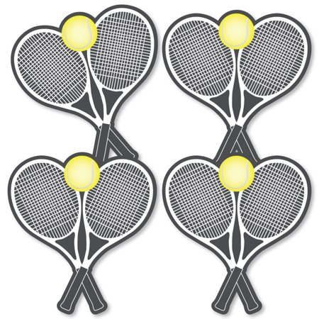 You Got Served - Tennis - Tennis Ball Decorations DIY Baby Shower or Birthday Party Essentials - Set of