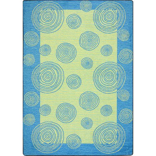 "Joy Carpets Kid Essentials - Teen Area Rugs Whimzi, 3'10"" x 5'4"", Teal"