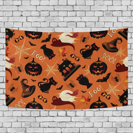 MYPOP Retro Halloween Tapestry Wall Hanging Decoration Home Decor Living Room Dorm 80x60 inches - Halloween Dorm Room Decorations