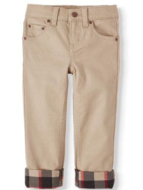 Wonder Nation Slim 5 Pocket Lined Jeans (Little Boy, Big Boy & Husky)