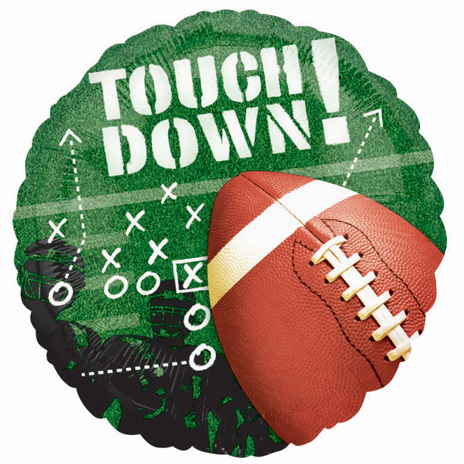 "Anagram 18"" Touch Down Football Frenzy Mylar Foil Balloon Superbowl Party Supply"