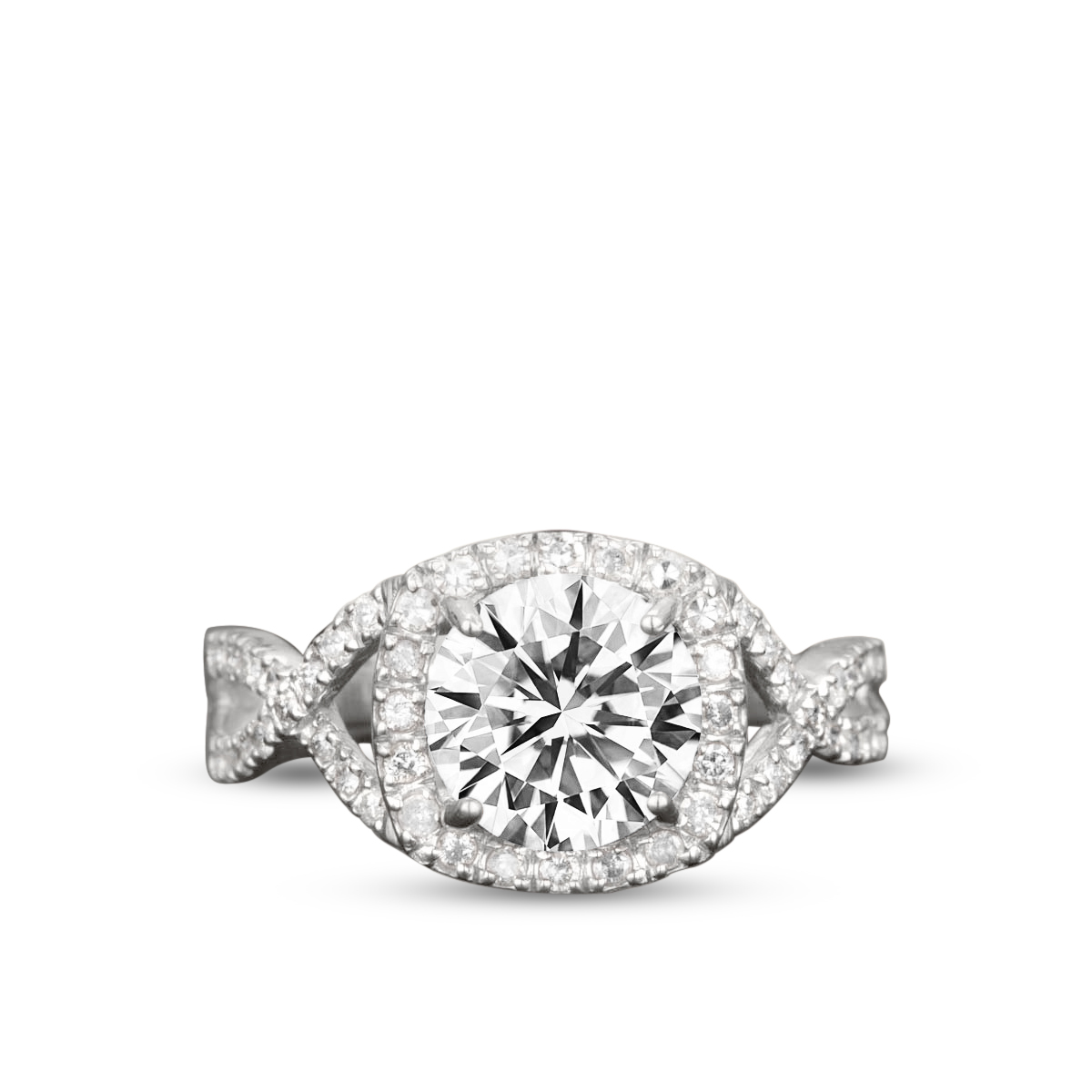 Art Deco 1.25 Carat Round Cut Moissanite