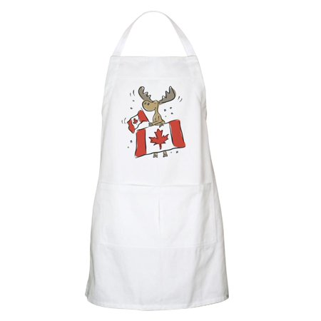 CafePress - Canada Day Moose BBQ Apron - Kitchen Apron with Pockets, Grilling Apron, Baking
