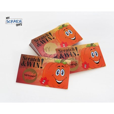 Fall Pumpkin Scratch Off Game Card - 25 Cards (1 Winner)