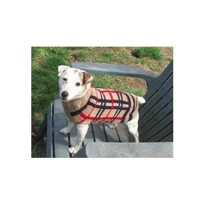 Chilly Dog Tan Plaid Dog Sweater