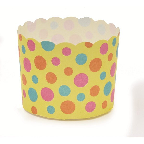 2.3Dia. x 2H Baking Cup Yellow Dot,Case of 500