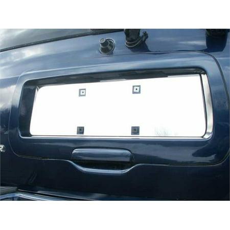 Stainless Steel License Plate Bezel for 02-09 Chevy TRAILBLAZER-4DR - License Plate Bezel