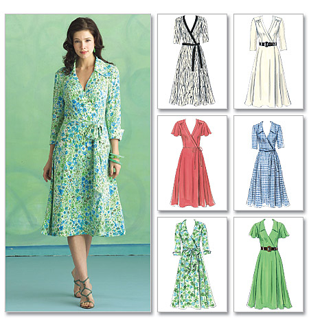 Butterick Pattern Misses' Dress, Belt and Sash, FF (16, 18, 20, 22)
