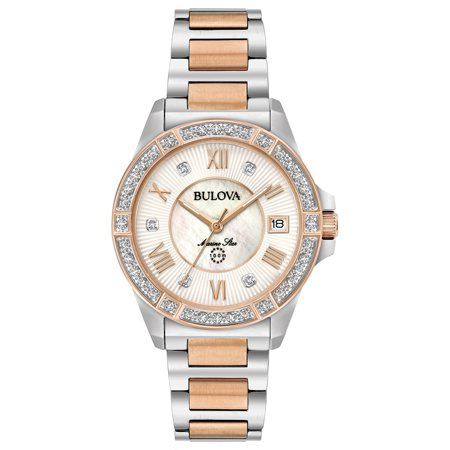 Bulova Women's Marine Star Diamond Two Tone Stainless Steel (Two Tone Marine)
