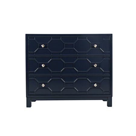 Home Source Zachary Modern Blue Accent Chest ()