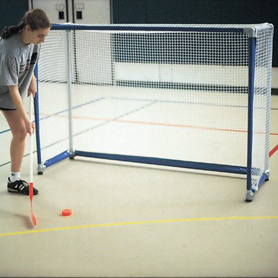 Deluxe 4 x 6 ft. Floor Field Hockey Goals with Nets Set of 2 by Goal Sporting Goods Inc