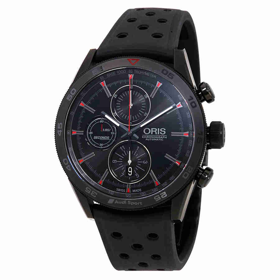 Oris Audi Sport Chronograph Black Dial Mens Watch 01 774 ...