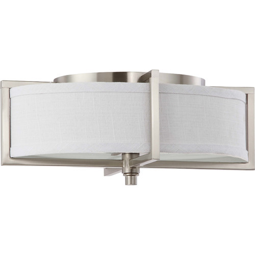 4 Light - Oval Pendant - Slate Gray Fabric Shades