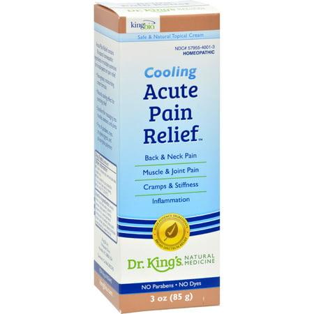 King Bio Homeopathic Acute Pain Relief Cream   3 Oz