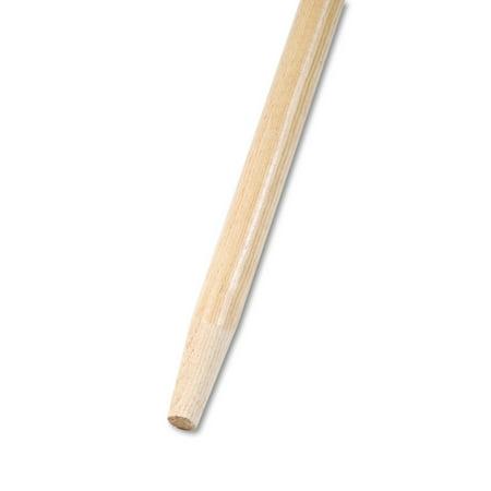 Long Hardwood Handle - Boardwalk Tapered End Broom Handle, Lacquered Hardwood, 1 1/8 Dia. x 60 Long -BWK125