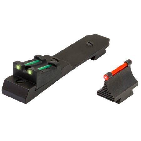 TRUGLO LEVER ACTION RIFLE SET HENRY LEVER TRITIUM/FIBER OPTIC RED FRONT GREEN REAR BLACK ()