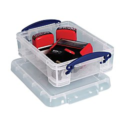 Really Useful Box® Plastic Storage Box, 1.75 Liters, 9 1/2