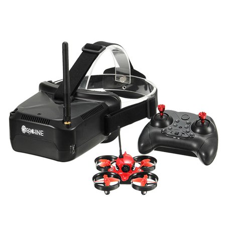 5.8G 1000TVL 40CH Camera Eachine E013 Micro FPV Racing Quadcopter RC Drone VR006 VR-006 3 Inch Goggles (22 Inch Rc Helicopter)