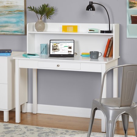 Foster Desk with Hutch, White