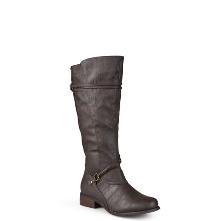 Womens Wide-Calf Knee-High Riding Boot](Harley Flame Boots)