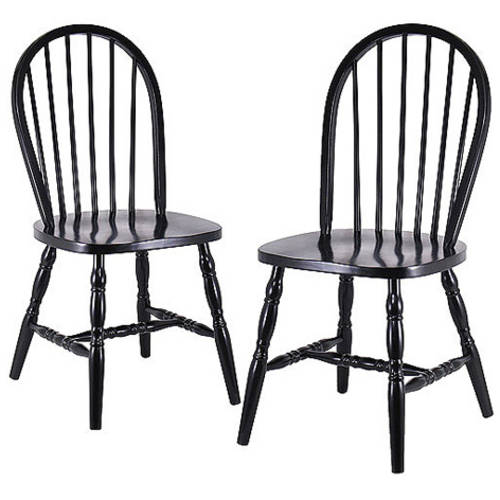 Awesome Windsor Chair, Set Of 2, Black