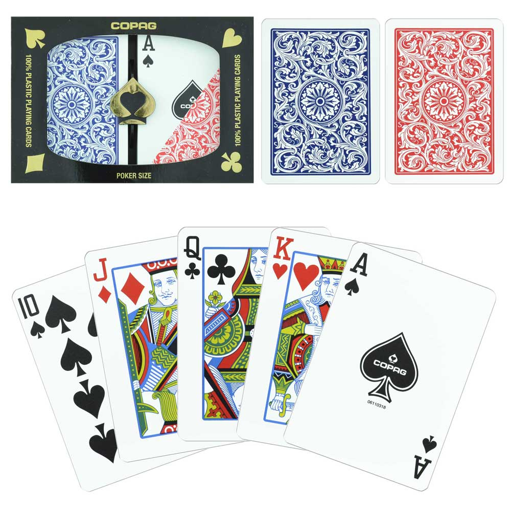 Copag 1546 Red Blue Poker Size Jumbo Index
