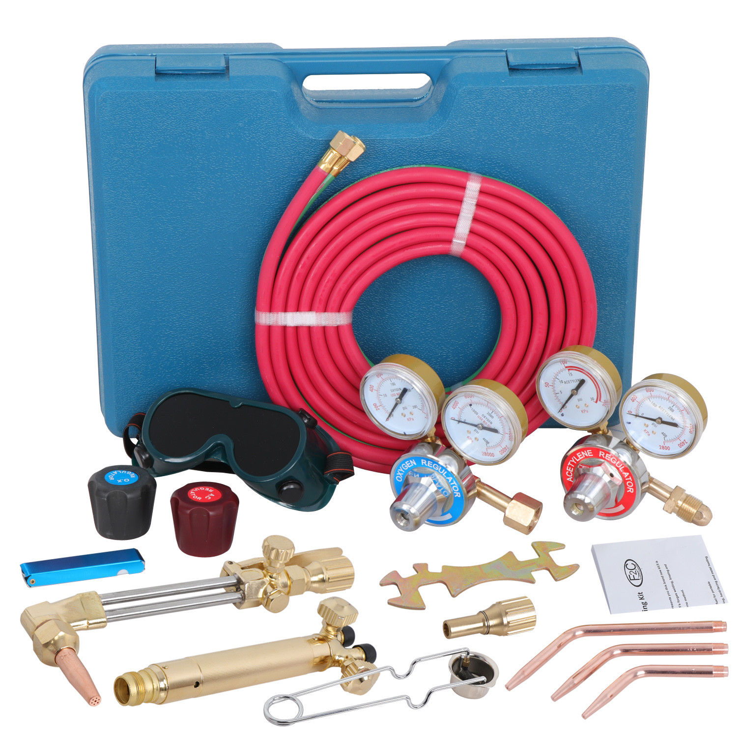 Zeny Gas Welding &Cutting Kit Harris Type Acetylene Oxygen Torch Set Welder Regulator