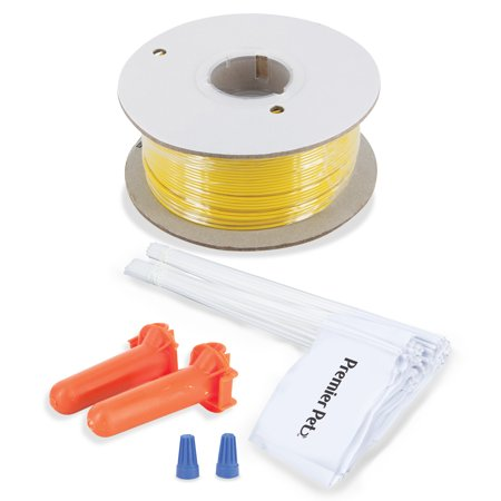 - Premier Pet Wire and Flag Expansion Set - Expands Your Current In-Ground Fence System - Contains 500 Feet of Wire, 50 Flags, 2 Splice Capsules and 2 Wire Nuts