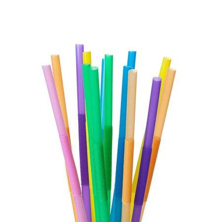 7 Color MIX Plastic Drinking Flexible Straws 50Pcs LIVINGbasics™ - image 1 de 3
