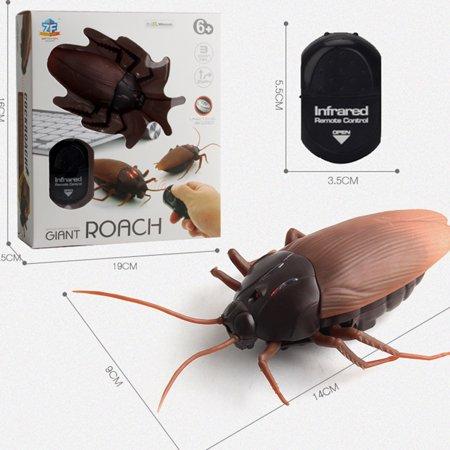 Infrared Remote Control Realistic Fake Cockroach RC Prank Toy Insects Joke Scary Trick For Party Or Christmas&Halloween Gift