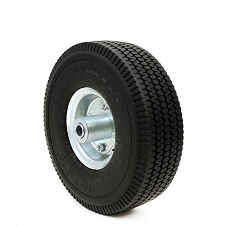 """10"""" Flat Free Tubless Tires Wheel for Handtruck Dolly Go Kart Wagon Hand Truck, Made of Polyurethane Foam; Tubeless -- Performs By Generic"""