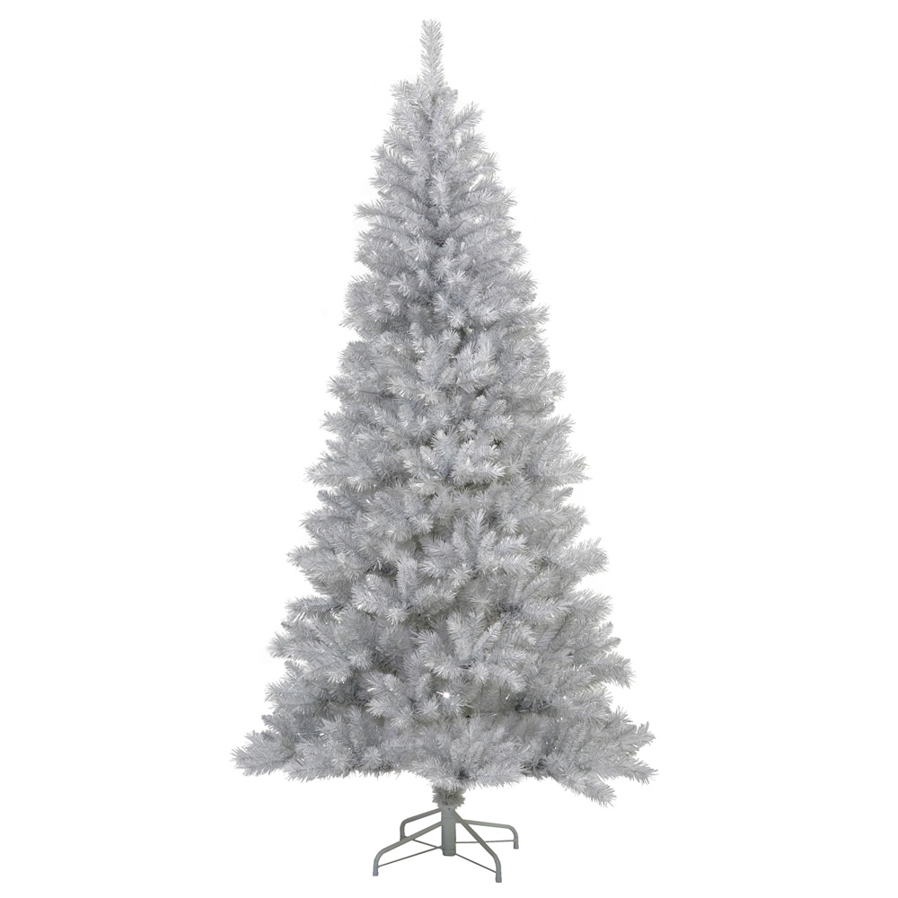 9'  Silver White Artificial Christmas Tree - Unlit