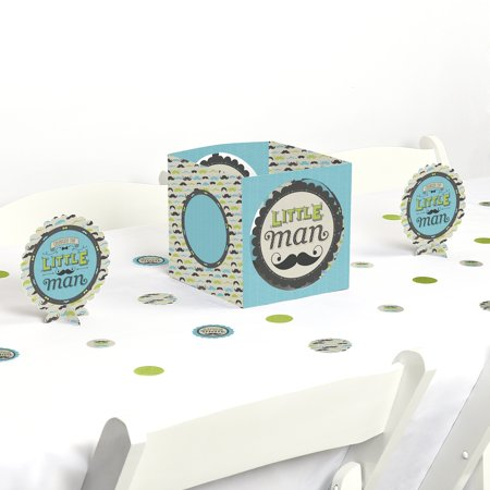 Dashing Little Man Mustache - Party Centerpiece & Table Decoration Kit - Mustache Centerpiece Ideas