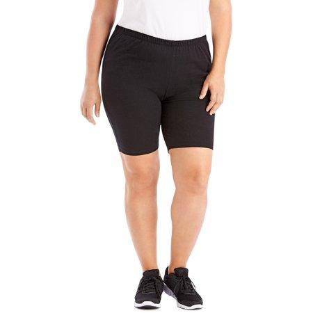 0176be34ea1 HANES - Just My Size Women s Plus-Size Stretch Jersey Bike Short ...