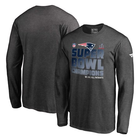 New England Patriots NFL Pro Line by Fanatics Branded Super Bowl LI Champions Trophy Collection Locker Room Long Sleeve T-Shirt - Charcoal ()