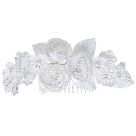 Wilton Floral Ribbon Headpiece, White 1006-702 (White Paper Halloween Crafts)