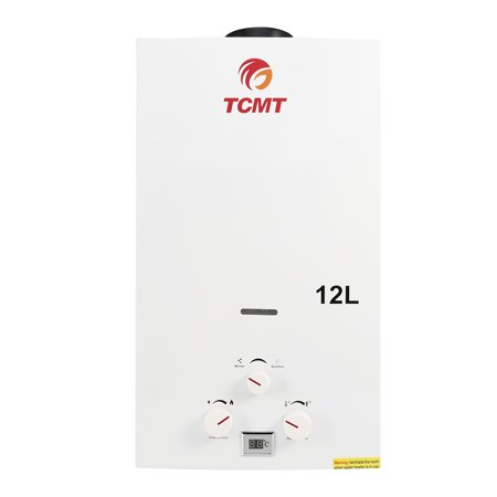 TCMT 3.2 GPM 12L Tankless Water Heater Natural Gas Instant Hot Boiler with Digital Display & Shower